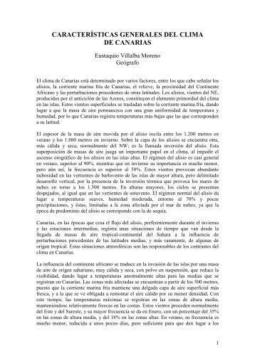 Características generales del clima de Canarias - Divulgameteo