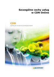 Szczególne cechy usług w CDN Online - Comarch