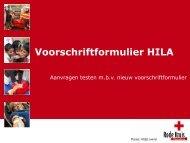 Voorschriftformulier HILA - instructies - Dienst voor het Bloed