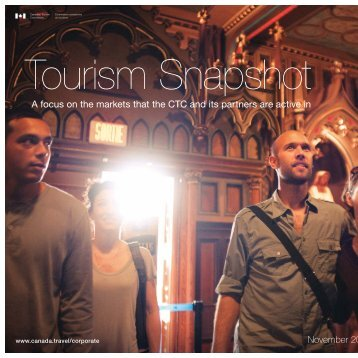 Read the latest Tourism Snapshot in full. - Canadian Tourism ...