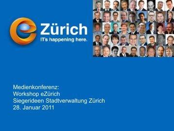Präsentation Medienkonferenz - eZürich
