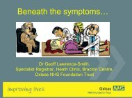 Beneath the symptoms - Oxleas NHS Foundation Trust
