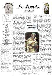 Bulletin du prieuré de Gastines - Parvis n° 56 ... - La Porte Latine