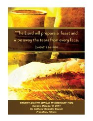 The Lord will prepare a feast and wipe away the tears from every face.