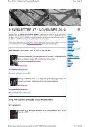 NEWSLETTER 17 / NOVEMBRE 2010 - art nouveau news