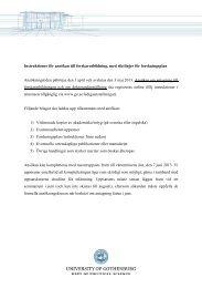 Instruktioner för ansökan till forskarutbildning, med riktlinjer för ...