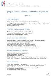 lecture conseillée 4eme - Lycée français international Victor Segalen