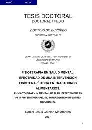 fisioterapia en salud mental. efectividad de una intervención ...
