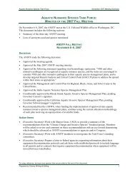 Meeting Summary from Fall 2007 - Aquatic Nuisance Species Task ...