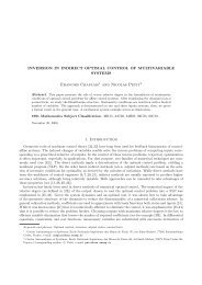 Inversion in Indirect Optimal Control of Multivariable Systems (journal)