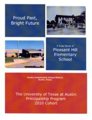 Proud Past, - Department of Educational Administration - The ...