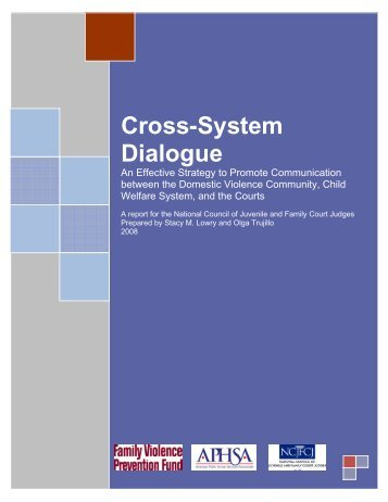 Cross-System Dialogue - The Greenbook Initiative