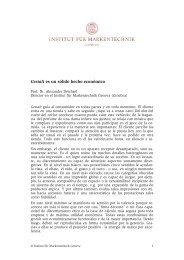 Gestalt es un sólido hecho económico - Institut für Markentechnik SA
