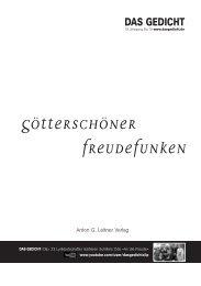 Inhalt DAS GEDICHT 19 als PDF - Anton G. Leitner Verlag / DAS ...