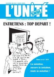 ENTRETIENS : TOP DEPART !