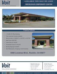 ROCKLIN 65 CORPORATE CENTER 6560 Lonetree Blvd., Rocklin ...