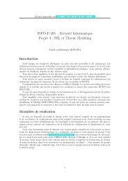 INFO-F-405 – Sécurité Informatique Projet 3 : SSL et Threat Modeling
