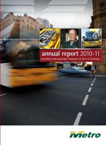 annual report 2010-11 - Metro Tasmania