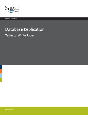 Database Replication technical white paper - Sybase