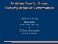 Modeling Form for Online Following of Musical Performances