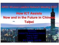 How ICT Assists Now and in the Future in Chinese Taipei