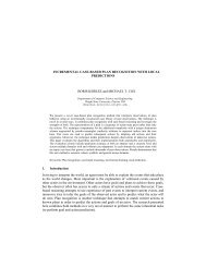 incremental case-based plan recognition with local ... - CiteSeerX