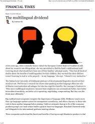 The multilingual dividend - FT.com - Atlanta International School