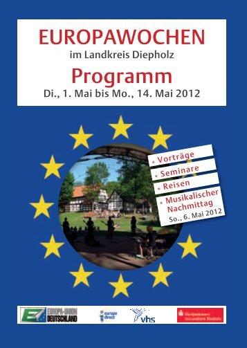 EUROPAWOCHEN Programm