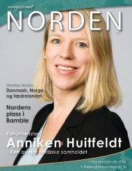 Anniken Huitfeldt - Forsiden - Foreningen Norden