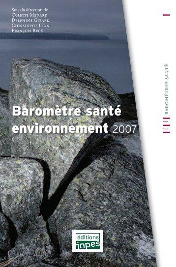 """""""Baromètre santé environnement 2007"""" (pdf - Inpes"""