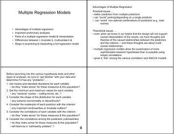 Multiple Regression Models