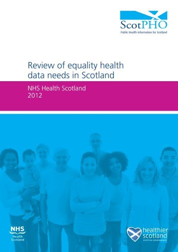 Review of equality health data needs in Scotland - Scottish Public ...