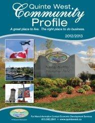 Community Profile - City of Quinte West
