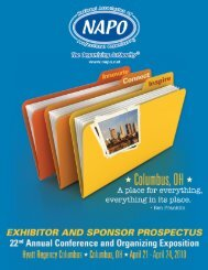 Invitation to become a NAPO MarketPlace Exhibitor - National ...