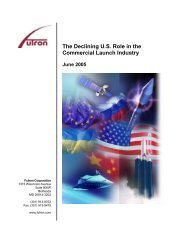 The Declining U.S. Role in the Commercial Launch Industry - Futron ...