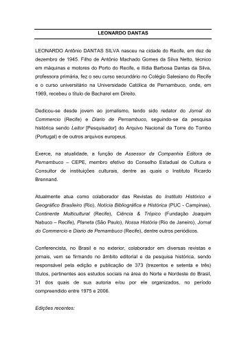 Leonardo Dantas Silva - Academia Brasileira de Letras