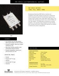 DC-20 GHz RSM Series Switches Single Pole, Double Throw