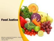 Food Justice - Bon Secours Health System, Inc.