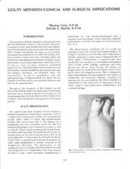 Gouty Arthritis/Clinical and Surgical Implications - The Podiatry ...