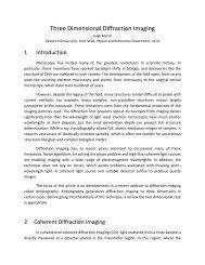 Three Dimensional Diffraction Imaging - REU - UCLA