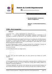 Texte du fax - Fédération Française De Badminton