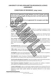 Licence Agreement 0910 - SAMPLE - University of Wolverhampton