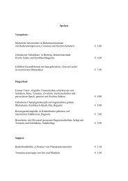 Speisen Vorspeisen : Marinierte Saisonsalate in ...