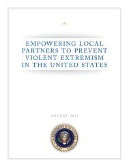 EmPowEring LocaL PartnErS to PrEVEnt ... - The White House