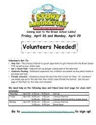 Book Fair Volunteers/Schedule - Natick Public Schools
