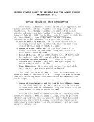Notice Regarding Case Information - U.S. Court of Appeals for the ...