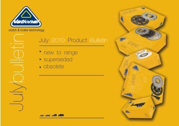 July Product 2010 Bulletin - National Auto Parts