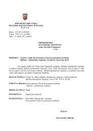 Izvješće o radu Javne ustanove Zavod za prostorno uređenje ...