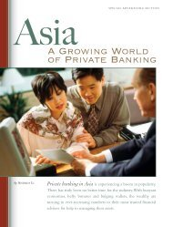 Asia: A Growing World of Private Banking - Forbes Special Sections