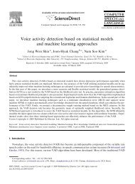 Voice activity detection based on statistical models and machine ...
